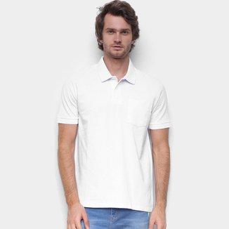 Camisa Polo Hering Básica Bolso Frontal Masculina