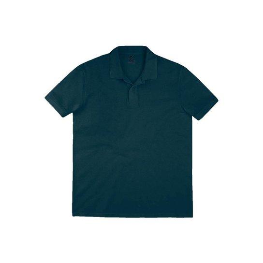 Camisa Polo Hering Regular em Algodão Pima Masculina - Cinza