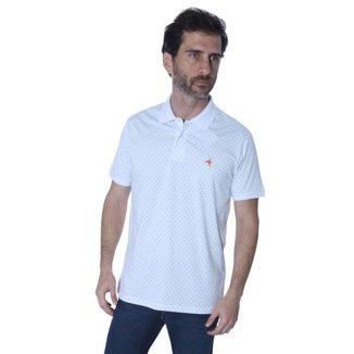 Camisa Polo Hipica Polo Club Full Print Poá Masculina