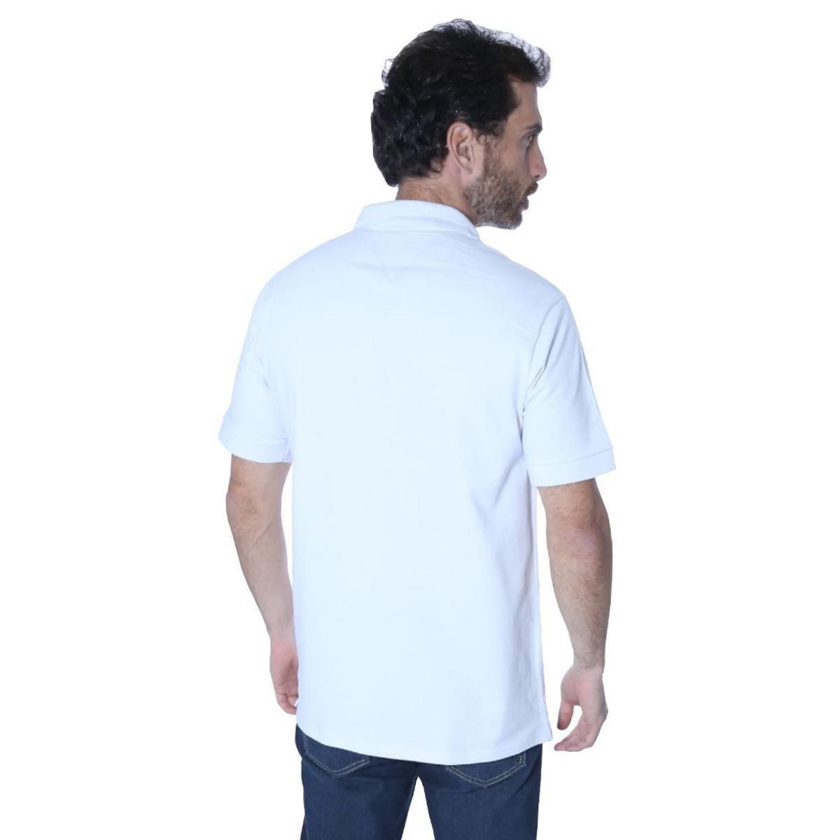 Camisa Polo Hipica Polo Club Player Classic Masculina - Branco