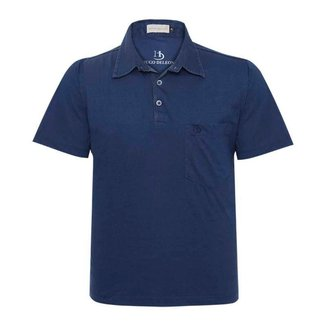 Camisa Polo Hugo Deleon Bolso Confort Sarja Masculina
