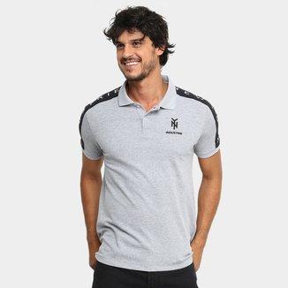 Camisa Polo Industrie Faixa Ombro Masculina