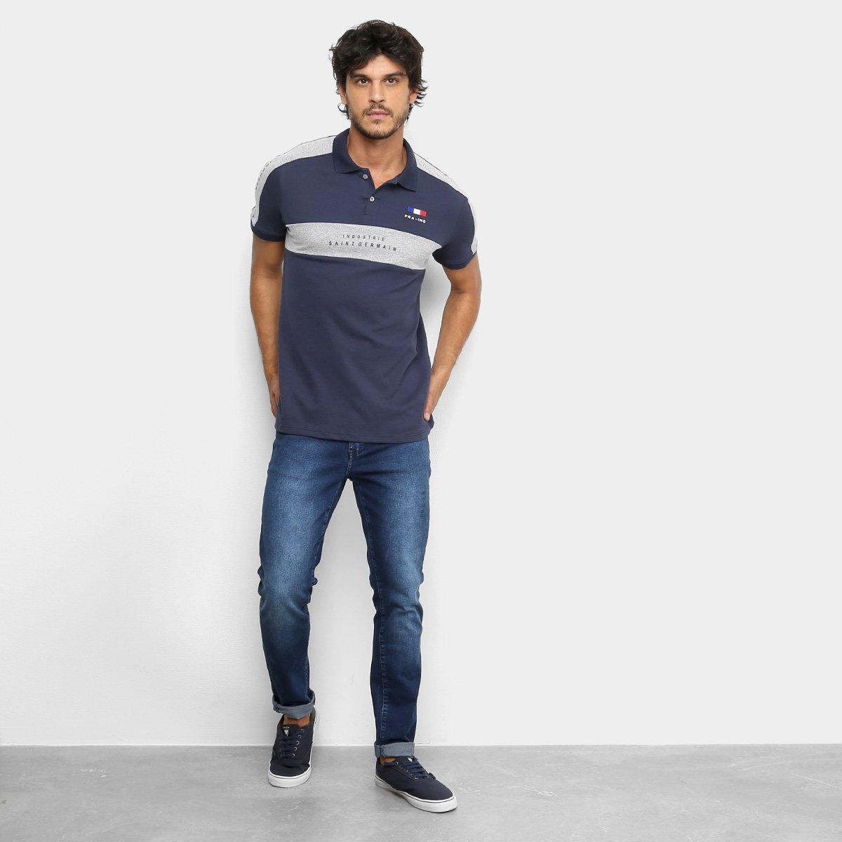 Camisa Polo Industrie Saint Germain Masculina - Marinho