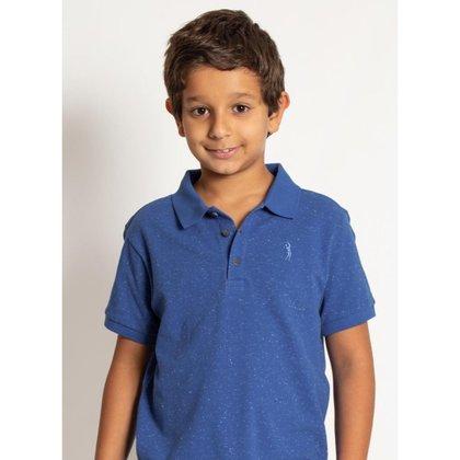 Camisa Polo Infantil Aleatory  Mini Print Playday Masculina