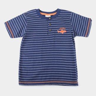 Camisa Polo Infantil Duzizo Listrada Masculina