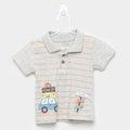 Camisa Polo Infantil Kiko & Kika Listrada Trip Masculina
