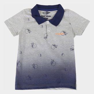 Camisa Polo Infantil Mormaii Estampada Masculina