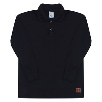 Camisa Polo Infantil Pulla Bulla Manga Longa Masculina