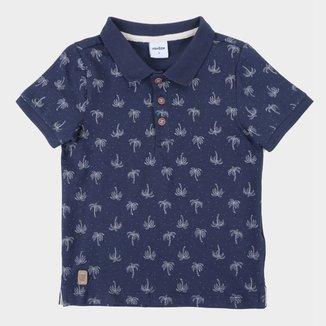 Camisa Polo Infantil Rovitex Estampada Masculina
