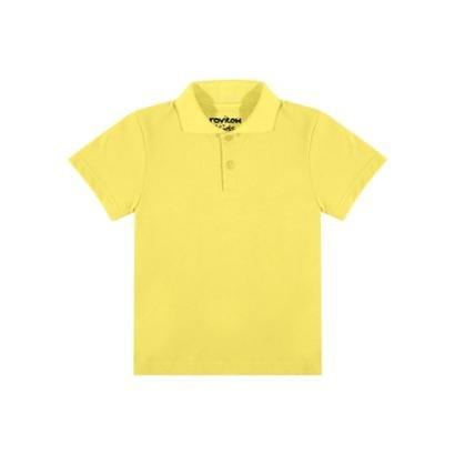 Camisa Polo Infantil Rovitex Kids Masculina - Amarelo - Compre Agora ... 1312d7c037ab9