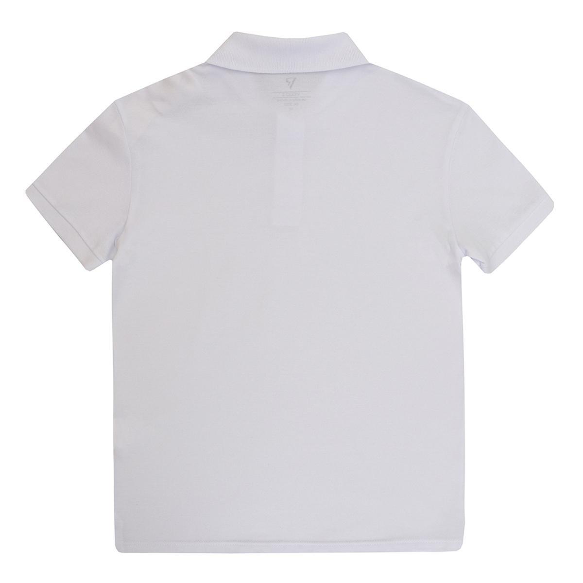 4f74a15ee6 Camisa Polo Infantil VR Kids Básica Masculina - Branco - Compre ...