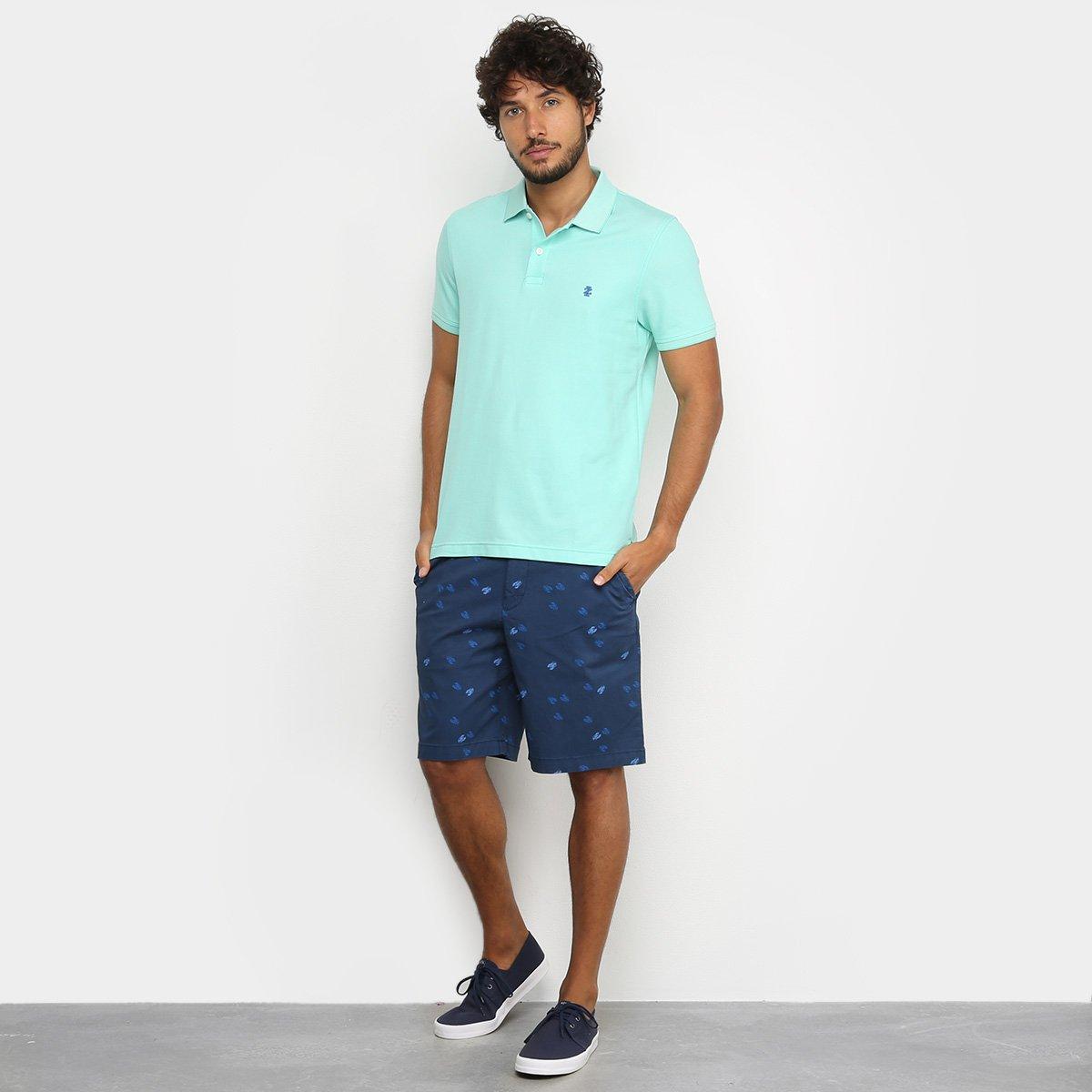Camisa Polo Izod Slim Masculina - Verde