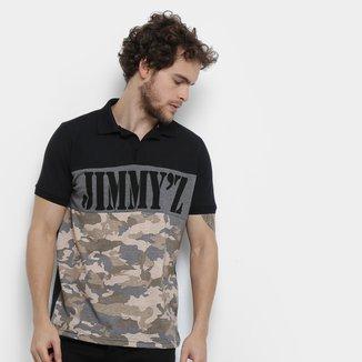 Camisa Polo Jimmy'Z Camuflado Navy Masculina