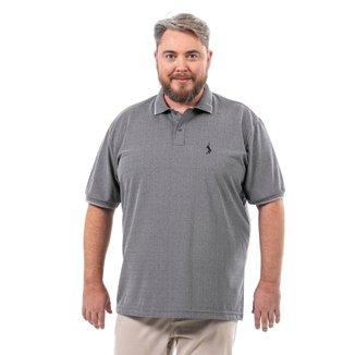 Camisa Polo John Pull Masculina Botão Plus Size Casual