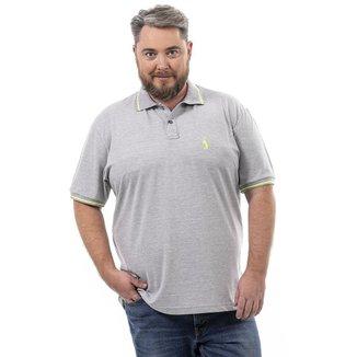 Camisa Polo John Pull Masculina Botão Plus Size Conforto