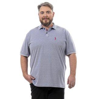 Camisa Polo John Pull Masculina Lisa Plus Size Casual