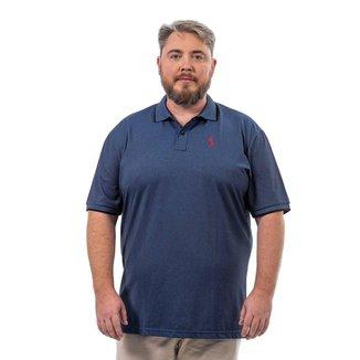 Camisa Polo John Pull Masculina Lisa Plus Size Conforto