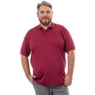Camisa Polo John Pull Masculina Lisa Plus Size Dia a Dia