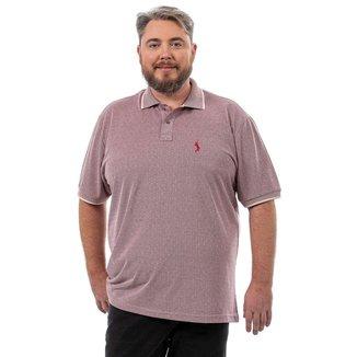 Camisa Polo John Pull Masculina Plus Size Botão Casual