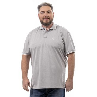 Camisa Polo John Pull Masculina Plus Size Botão Dia a Dia