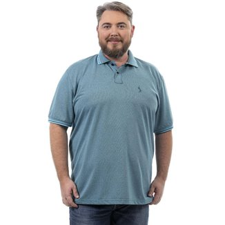 Camisa Polo John Pull Masculina Plus Size Lisa Conforto