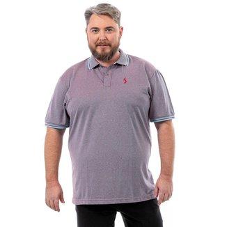 Camisa Polo John Pull Masculina Plus Size Lisa Dia a Dia