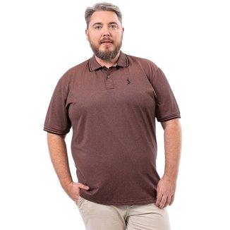 Camisa Polo John Pull Plus Size Masculina Botão Casual