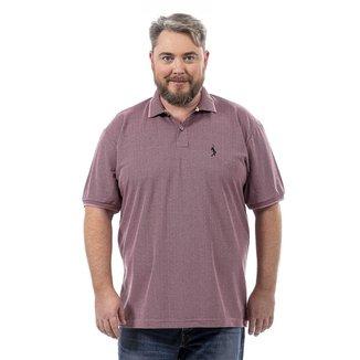 Camisa Polo John Pull Plus Size Masculina Botão Conforto