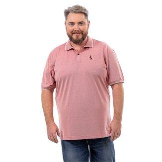 Camisa Polo John Pull Plus Size Masculina Botão Moderna