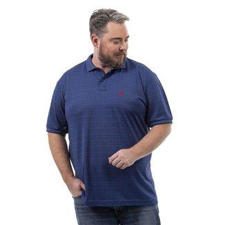 Camisa Polo John Pull Plus Size Masculina Lisa Confortável