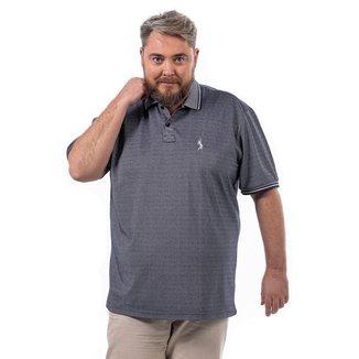 Camisa Polo John Pull Plus Size Masculina Lisa Dia a Dia