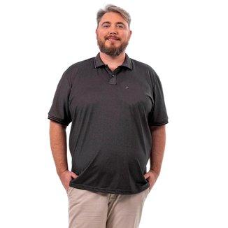 Camisa Polo John Pull Plus Size Masculina Lisa Moderna