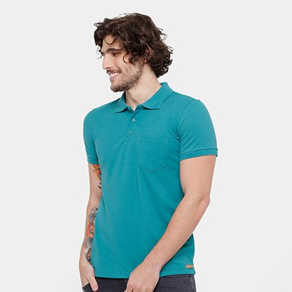 1aa211692d Camisa Polo Kohmar Piquet Básica Masculina - Verde água - Compre Agora