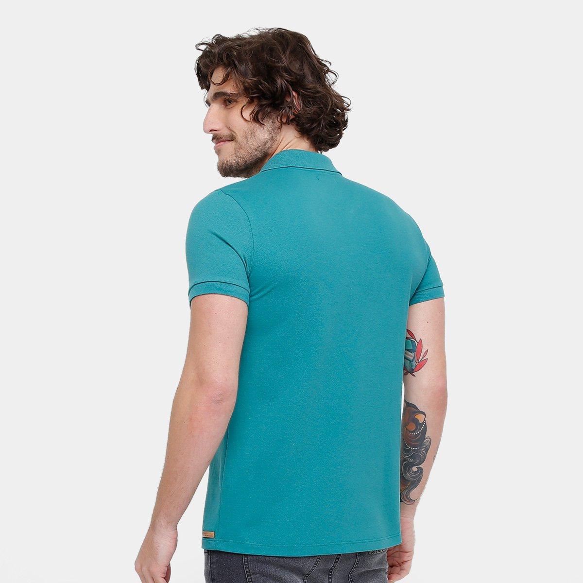 0257cce77b Camisa Polo Kohmar Piquet Básica Masculina - Verde água - Compre ...
