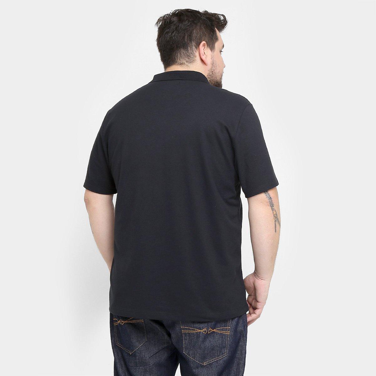 Camisa Polo Kohmar Piquet Plus Size Masculina - Preto - Compre Agora ... 7bd080e128883