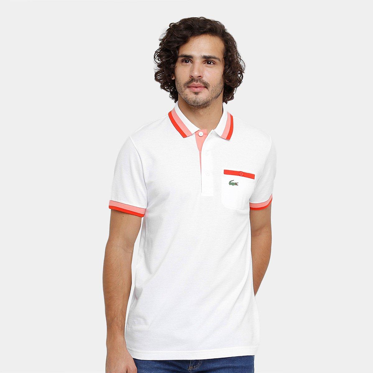 e359f325a34ce ... Camisa Polo Lacoste Bolso Botão Masculina - Compre Agora Zattini  0ec061183d6e51 ...