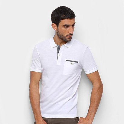 Camisa Polo Lacoste Bolso Lateral Masculina