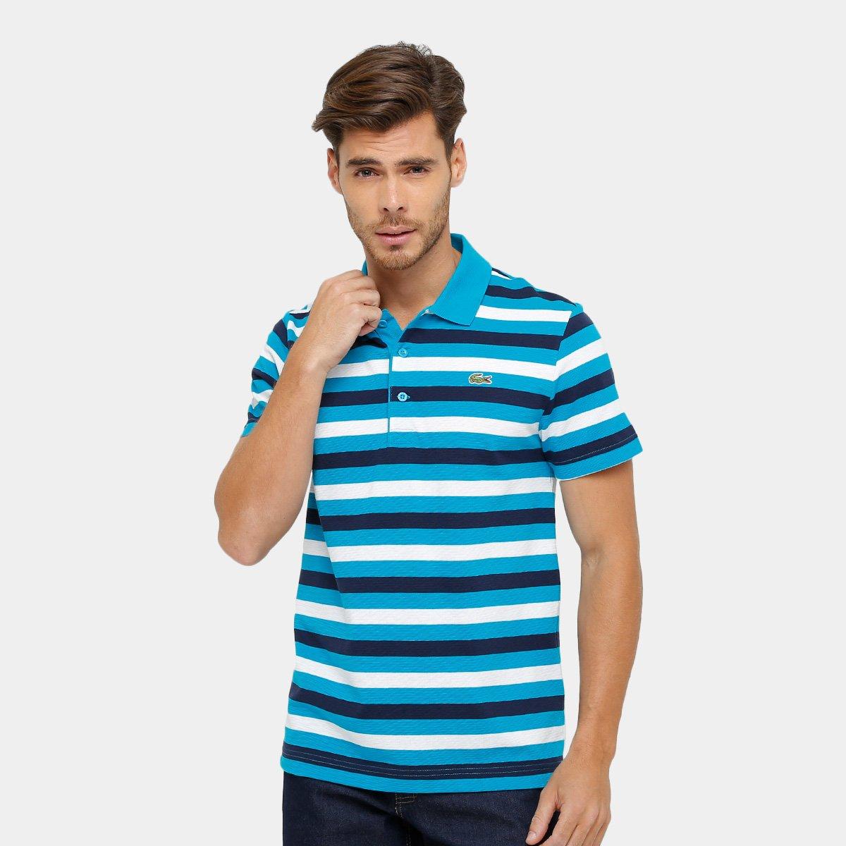 8e74f10bc3462 Camisa Polo Lacoste Listrada Masculina - Compre Agora