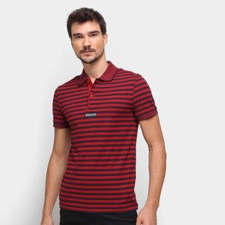Camisa Polo Lacoste Listrada Masculina