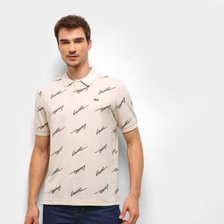 Camisa Polo Lacoste Live Logo Masculina