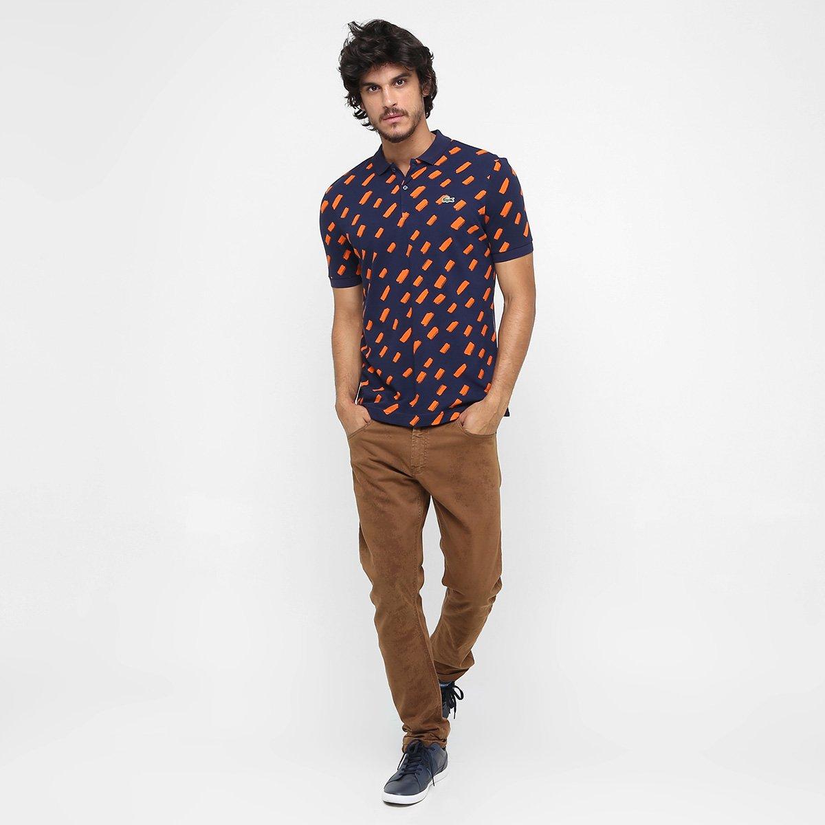 6153a62098adf Camisa Polo Lacoste Live Piquet Full Print - Compre Agora   Zattini