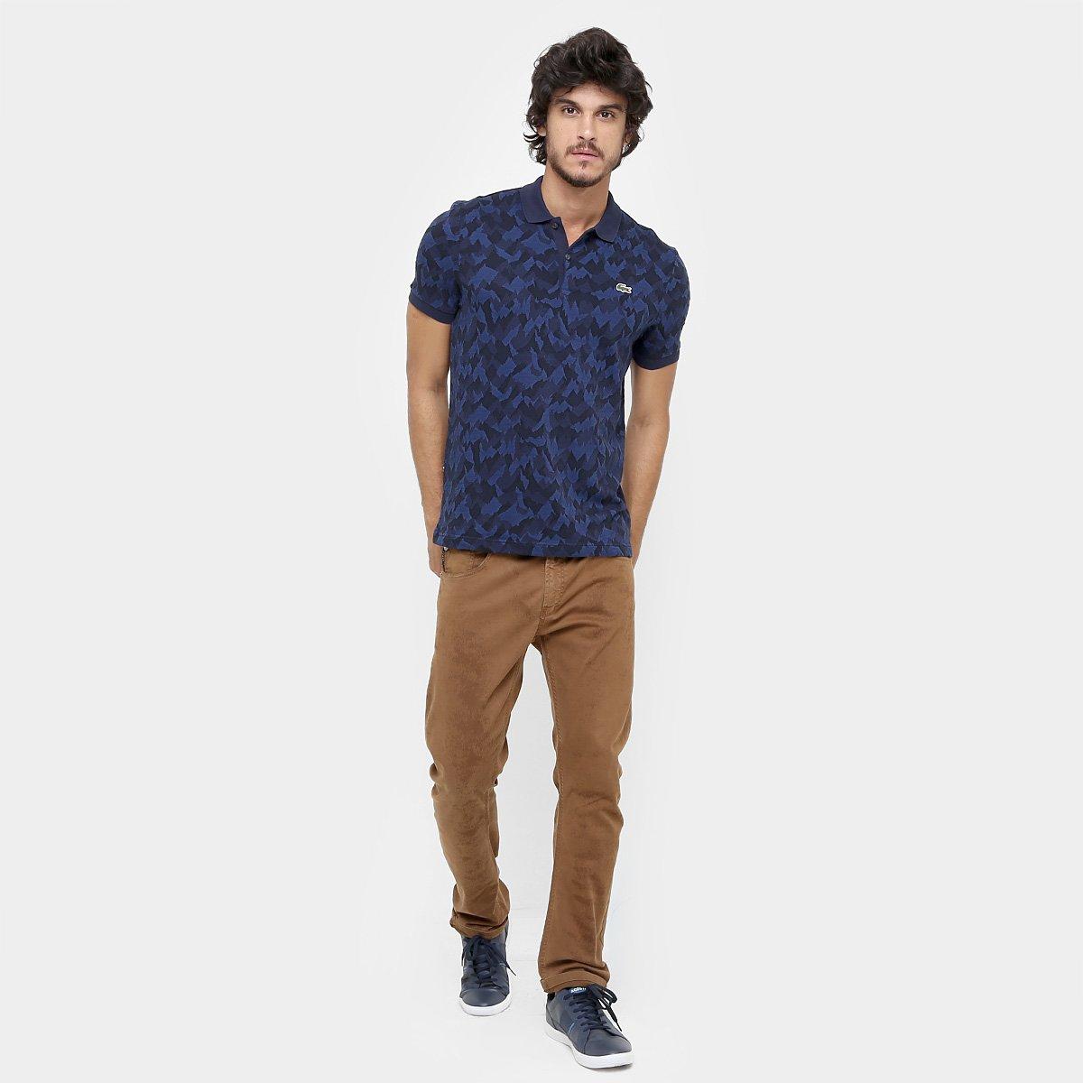 04979321b9511 Camisa Polo Lacoste Live Piquet Jacquard Camuflado - Compre Agora ...