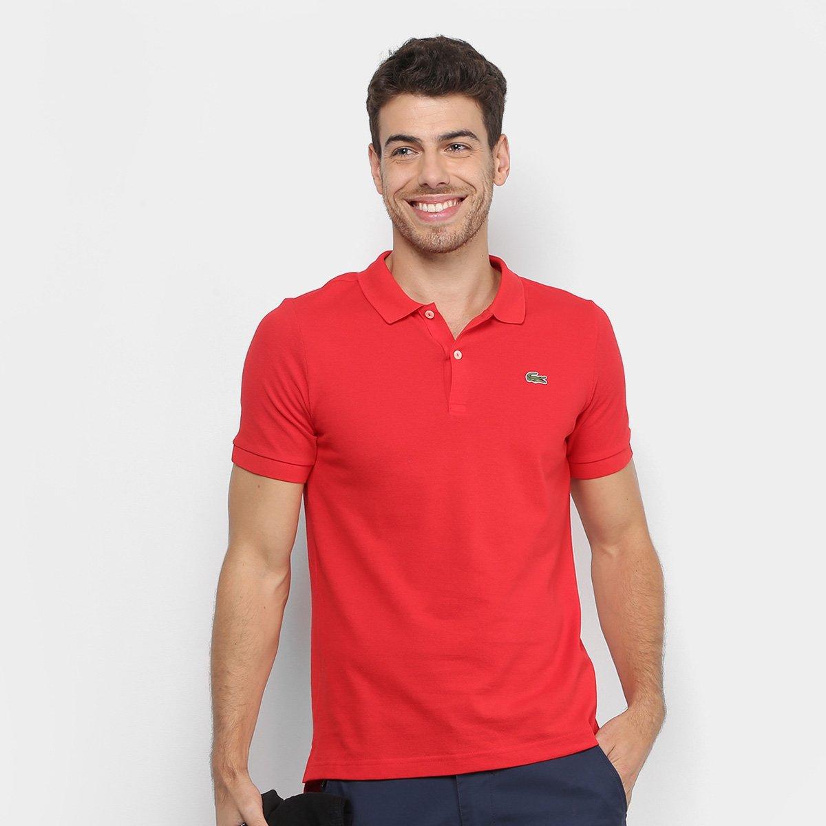 21125f7e76da7 Camisa Polo Lacoste Live Piquet Masculina - Vermelho - Compre Agora ...