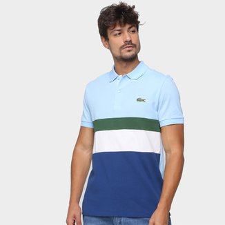 Camisa Polo Lacoste Multicolor Masculina