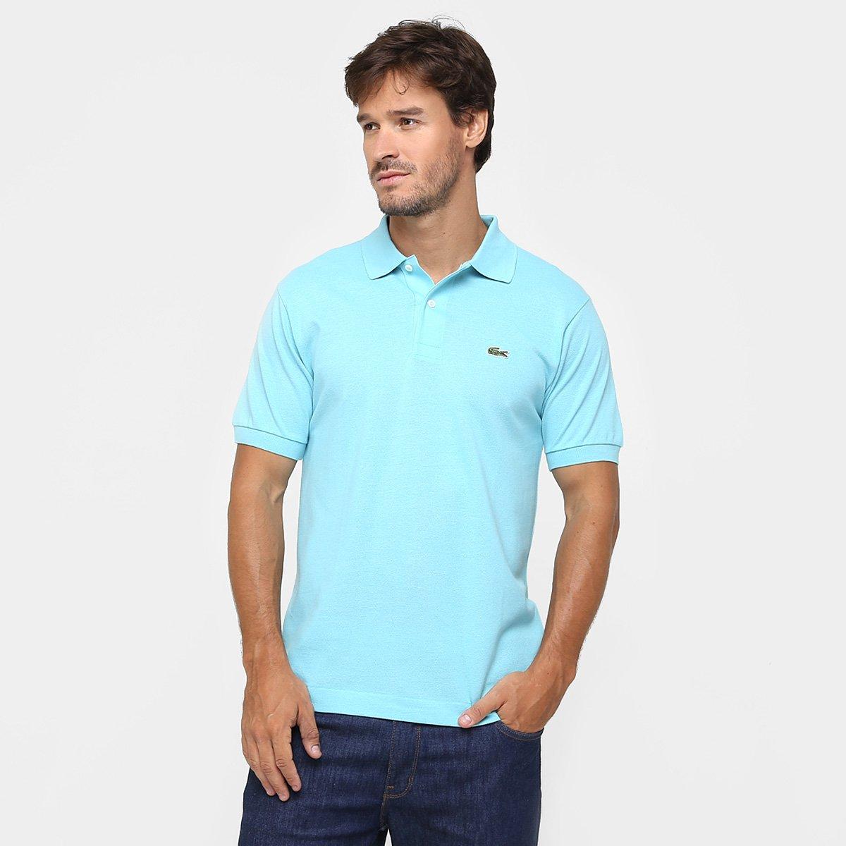 c4712cddf149b Camisa Polo Lacoste Original Fit Masculina - Azul Piscina - Compre Agora