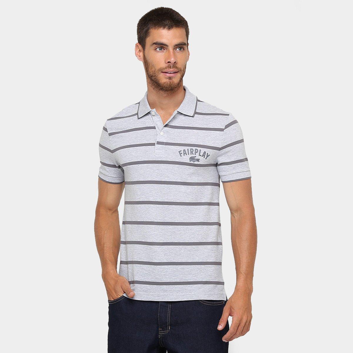 9fb032e7e5839 Camisa Polo Lacoste Piquet Listras Fair Play - Compre Agora   Zattini