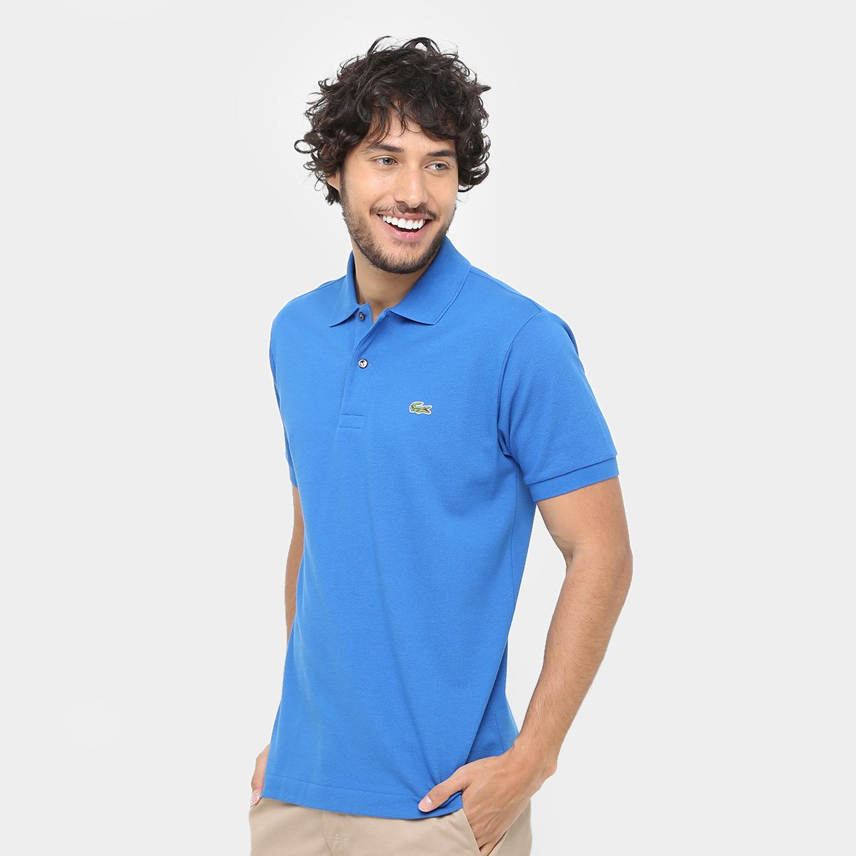 Camisa Polo Lacoste Piquet Original Fit Masculina 2268cedc5f