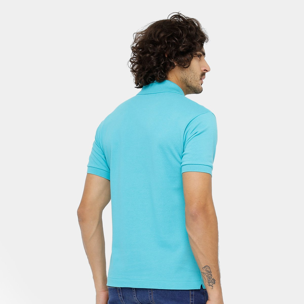 Camisa Polo Lacoste Piquet Original Fit Masculina - Azul Turquesa ... 6b28d73b62