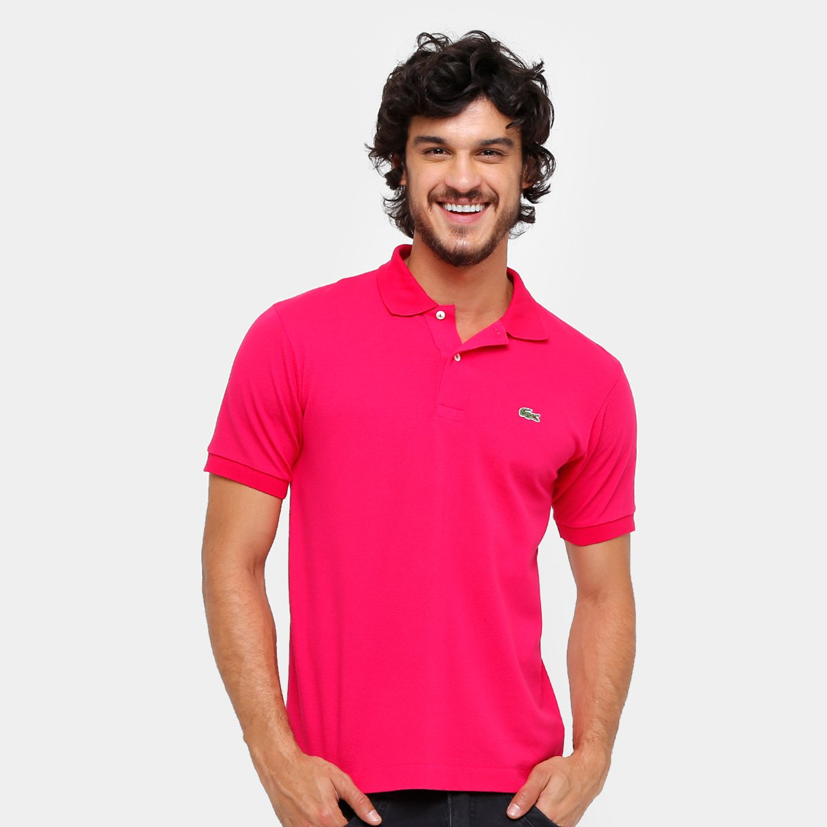 Camisa Polo Lacoste Piquet Original Fit Masculina - Pink - Compre ... acbaca8893