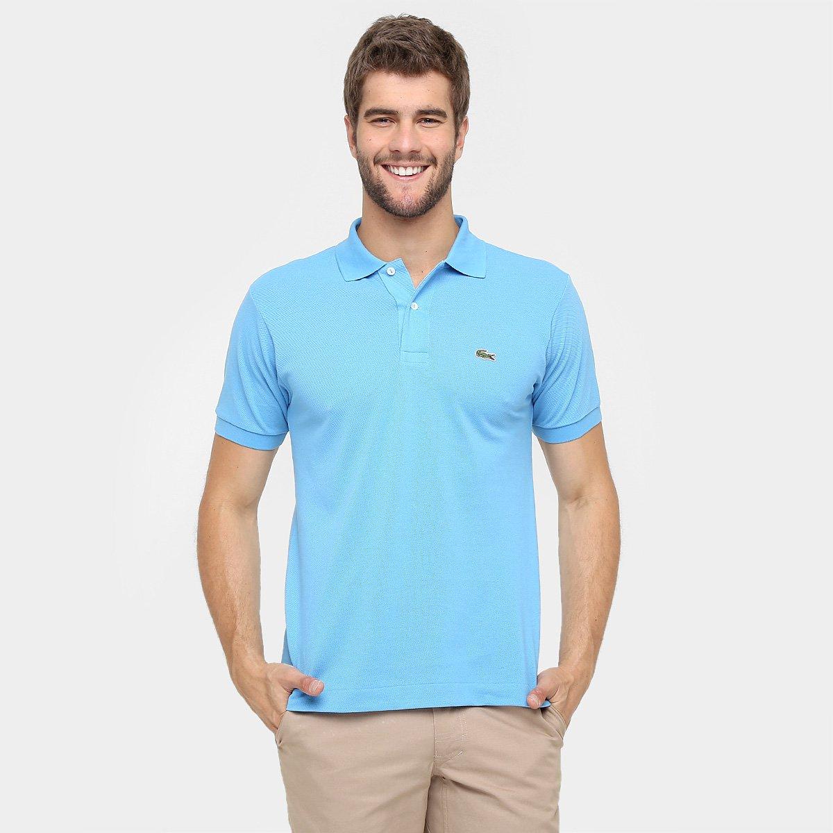 fe35d546f0d6 Camisa Polo Lacoste Piquet Original Fit Masculina - Azul Escuro   Zattini
